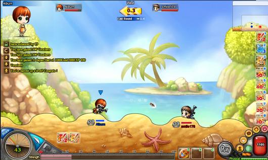 DDTank Kostenloses Browser Worms Spiel