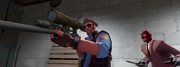 Team Fortress 2 Klasse Sniper und Spion spielen