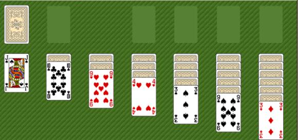 Solitaer Kartenspiel