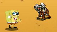 Spongebob kämpft gegen Zombies
